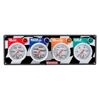 QuickCar Racing® - Auto Meter Ultra-Lite 4-Gauge Panel (Oil Pressure/Water Temp/Oil Temp/Fuel Pressure)