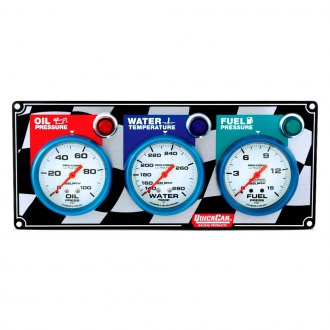QuickCar Racing® - Auto Meter Ultra-Nite 3-Gauge Panel (Oil Pressure/Water Temp/Oil Temp)