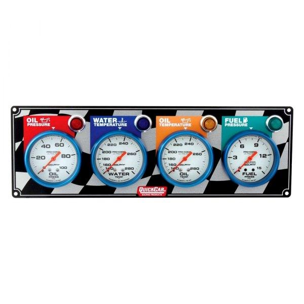 quickcar racing 174 61 0631 auto meter ultra nite 4 panel pressure water temp