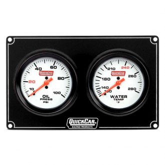 QuickCar Racing® - Extreme 2-Gauge Panel (Oil Pressure/Water Temp)