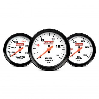 QuickCar Racing® - In-Dash White Face Gauge