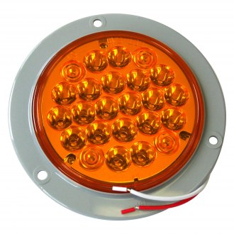 "Race Sport® - 4"" Round Chrome/Amber LED Turn Signal Light"