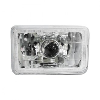 "Race Sport® - 4x6"" Rectangular Chrome Halo Projector Headlight"