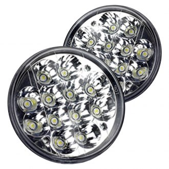 "Race Sport® - 5 3/4"" Round Chrome LED Headlights"