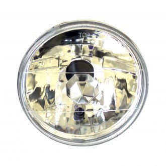 "Race Sport® - 7"" Round Chrome Diamond Cut Headlights"