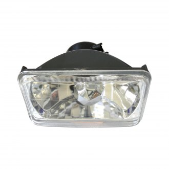 "Race Sport® - 4x6"" Rectangular Chrome Diamond Cut Headlights"
