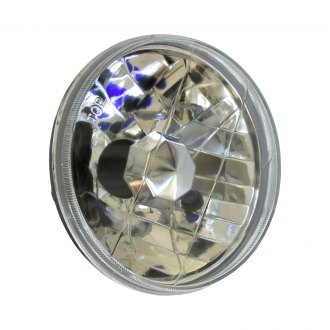 "Race Sport® - 5 3/4"" Round Chrome Diamond Cut Headlights"