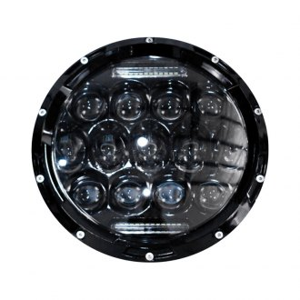 "Race Sport® - 7"" Round Black Projector LED Headlights"