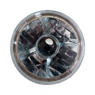 "Race Sport® - 7"" Round Chrome Halo Projector Headlight"