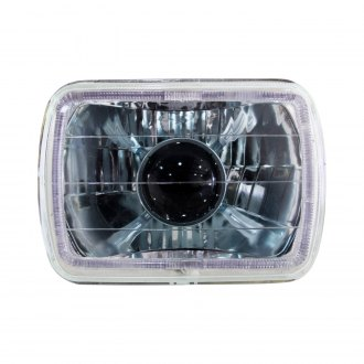 "Race Sport® - 7x6"" Rectangular Chrome Halo Projector Headlight"