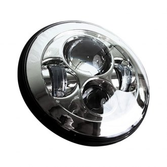 "Race Sport® - 7"" Round Chrome Projector LED Headlights"