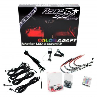 "Race Sport® - 12"" Remote Control Interior Multicolor LED Strip Kit"