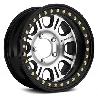 RACELINE® - RT232 ST MONSTER Black with Machined Face and Black Cast Beadlocks