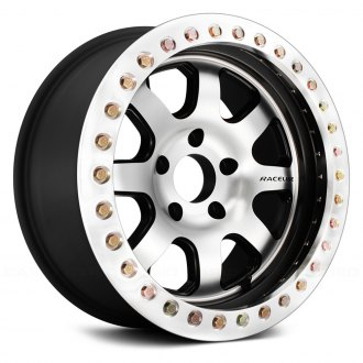 RACELINE® - RT260 AL AVENGER Black with Machined Face and Machined Cast Beadlocks