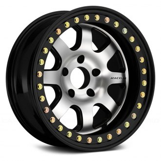 RACELINE® - RT260 ST AVENGER CAST BEADLOCKS Black with Machined Face and Black Cast Beadlocks
