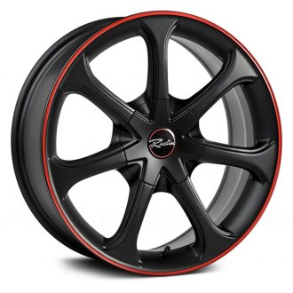 RACELINE® - TYPE 197 Black with Red Stripe