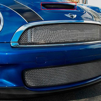 RaceMesh® - Standard Weave Electro Polished Mesh Hood Scoop Grille