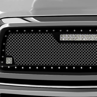 RaceMesh® - Trucks™ LED Version Crimped Style Mesh Grille
