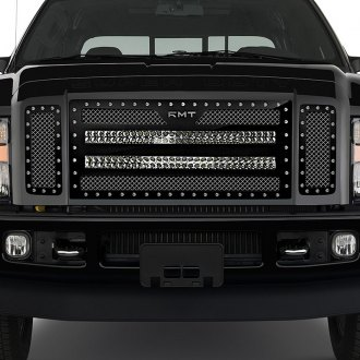"RaceMesh® - Trucks™ LED Version Crimped Weave Mesh Grille with Dual 30"" LED"