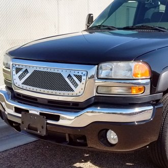 "RaceMesh® - Trucks™ LED Version Standard Weave Mesh Grille with Dual 6"" LED"
