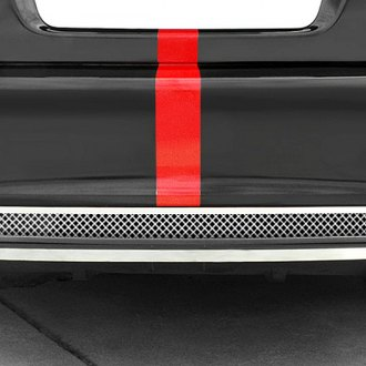 RaceMesh® - 2-Pc Standard Weave Black Chrome Mesh Rear Diffuser Grille