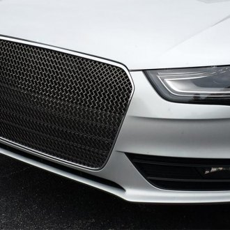 RaceMesh® - 1-Pc Gothic Style Chrome Mesh Main Grille