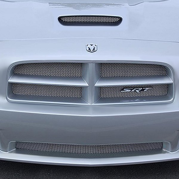 RaceMesh® - 3-Pc Standard Weave Satin Stainless Mesh Grille Kit