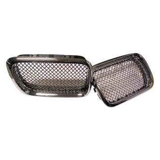 RaceMesh® - 2-Pc Standard Weave Chrome Mesh Grille