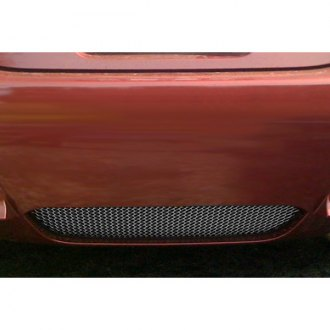 RaceMesh® - 1-Pc Standard Weave Black Chrome Mesh Rear Diffuser Grille