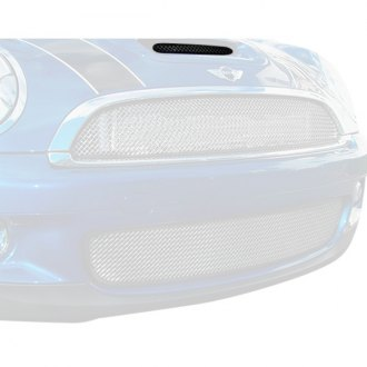RaceMesh® - 1-Pc Standard Weave Electro Polished Mesh Hood Scoop Grille