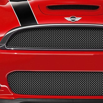 RaceMesh® - 1-Pc Standard Weave Black Chrome Mesh Grille