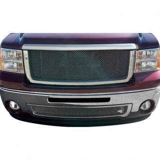 RaceMesh® - 2-Pc Standard Weave Black Chrome Mesh Grille