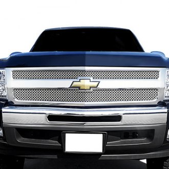 RaceMesh® - 1-Pc Gothic Style Black Chrome Mesh Grille