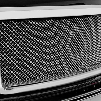 RaceMesh® - 1-Pc Standard Weave Chrome Mesh Main Grille