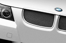 RaceMesh Grille on White BMW