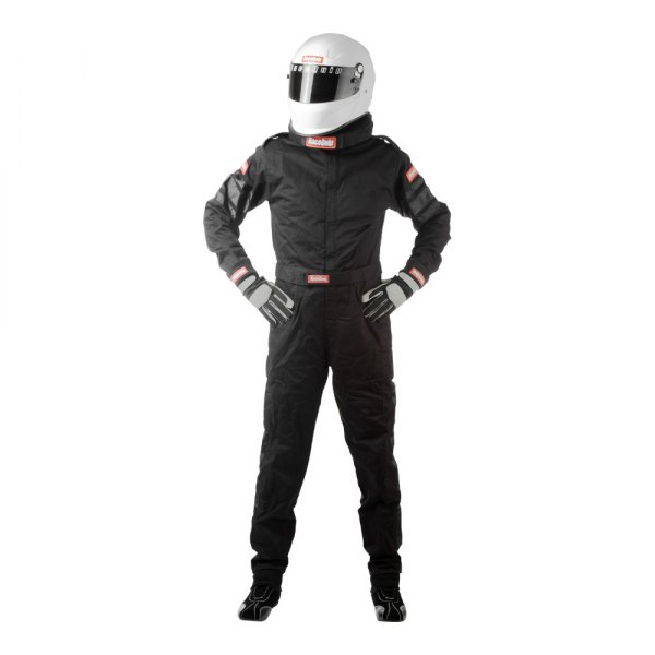 RaceQuip® - 110 Series Single Layer Racing Suit, 3XL Size, Black