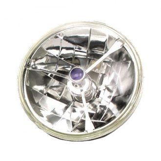 "Racing Power Company® - 5 3/4"" Round Chrome Tri-Bar Crystal Headlight With Blue dot"