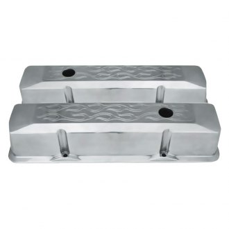 Racing Power Company® - Aluminum Recessed Baffled Valve Cover
