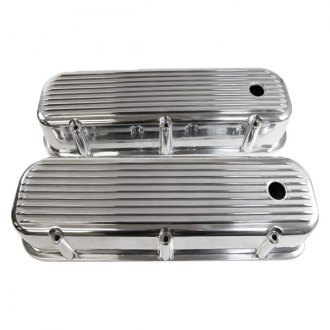 Racing Power Company® - Nostalgic Finned Aluminum Baffled Valve Cover