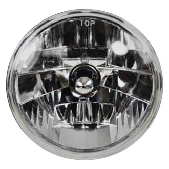 "Racing Power Company® - 7"" Round Chrome Crystal Headlights"