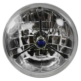 "Racing Power Company® - 7"" Round Chrome Tri-Bar Crystal Headlight"