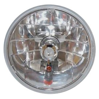 "Racing Power Company® - 7"" Round Chrome Crystal Headlight With Amber Turn Signal"