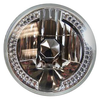 "Racing Power Company® - 7"" Round Chrome Crystal Headlight"