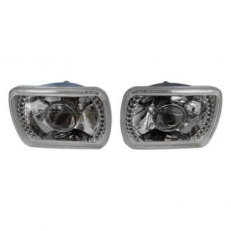 "Racing Power Company® - 7x6"" Rectangular Chrome Projector Headlight"
