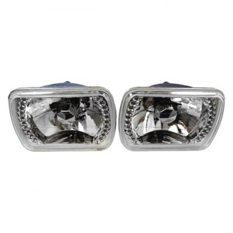 "Racing Power Company® - 7x6"" Rectangular Chrome Crystal Headlight"