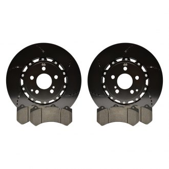 RacingBrake® - Open Slot 2-Piece Front Brake Rotors with Pads