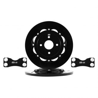 RacingBrake® - Oversized Open Slot 2-Piece Upgrade Rear Rotor Kit