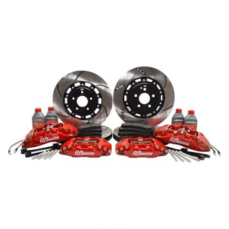RacingBrake® - Front and Rear Calipers and Iron 2-Piece Rotor Big Brake Kit
