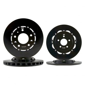 RacingBrake® - OE Open Slot 2-Piece Front and Rear Rotor Kit