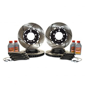 RacingBrake® - 2-Piece Replacement Stock Iron Front and Rear Rotor Kit